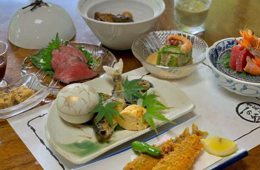 月替わり季節のお料理10品 4,000円(税込)のイメージ画像