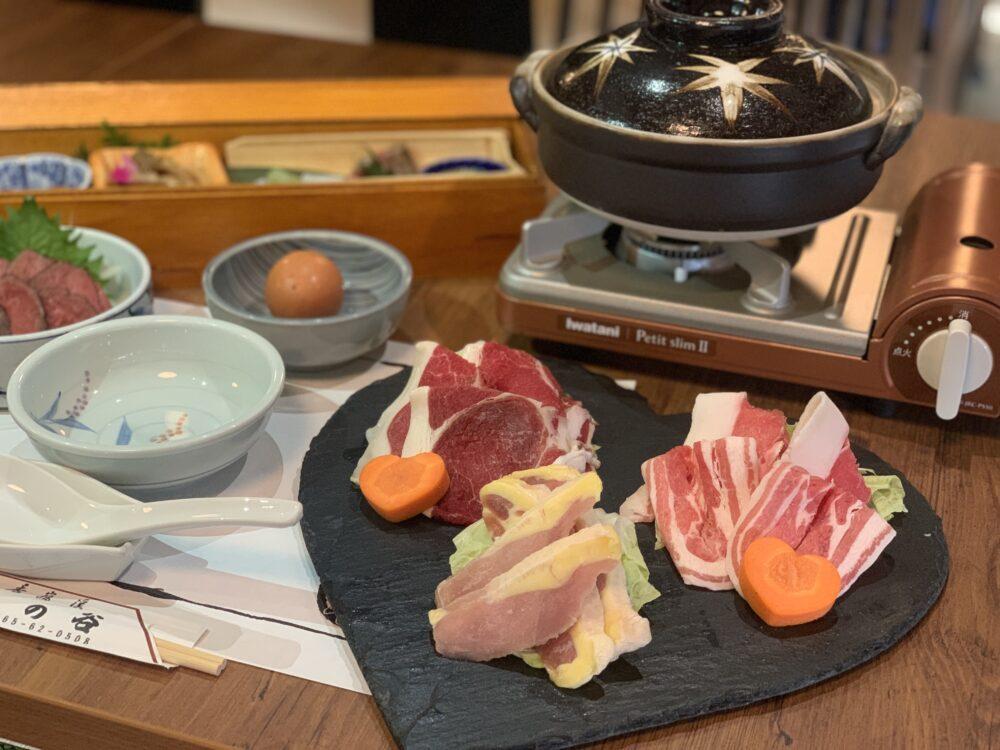 ジビエ鍋料理が始まりました!!